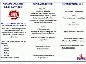 Cena de Gala Temporada 2010