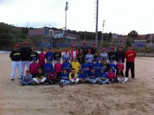 Último entrenamiento en el Campo de Softbol