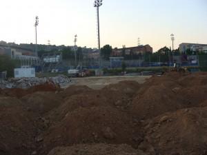 Buen ritmo en las obras del nuevo campo de Softbol