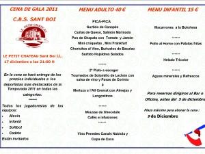Ya esta aquí la Cena de Gala 2011, Sábado 17 de Diciembre