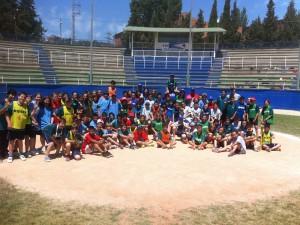 Escuela Joan Bardina en el estadio de Beisbol