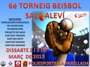Equipos y Calendario Torneo Beisbol Sala 2013