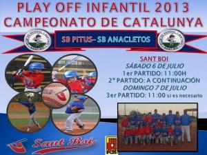 Play Off Campeonato de Catalunya 2013