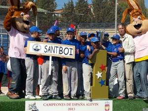 Somos Campeones de España de Beisbol Alevin 2013