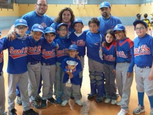 Sant Boi Campeon 1er Torneo Beisbol T-Ball Indoor 2014