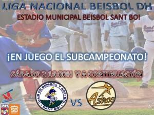 El equipo de Candelario Díaz se juega el subcampeonato nacional