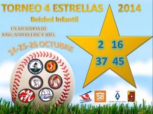 5ª Edición Torneo 4 Estrellas de Beisbol Infantil 2014