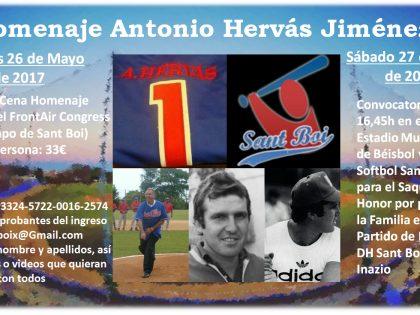 Homenaje a Antonio Hervás Jiménez – 26 y 27 de Mayo de 2017