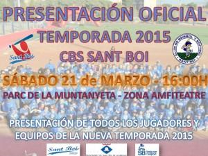 Presentación Temporada 2015 CBS Sant Boi