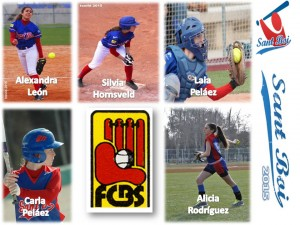 5 chicas de Sant Boi con la Selecció Catalana 'Big League'
