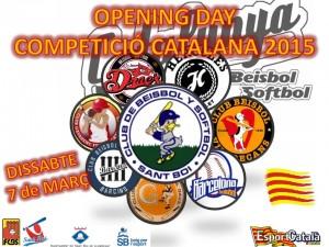 Comienza la Competición Catalana 2015 de Beisbol