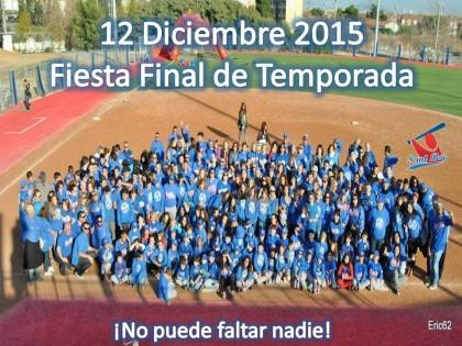 12 de Diciembre. Fiesta Fin de Temporada 2015