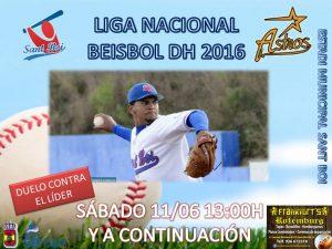 El equipo de Beisbol DH recibe al líder, Astros de Valencia