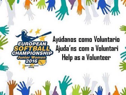 Se buscan voluntarios para Europeo Juvenil Sofbol en Sant Boi