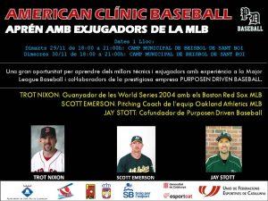 Sant Boi acogerá el gran evento, American Baseball Clinic 2016