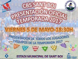 5 de Mayo. Presentación Oficial Temporada 2017 CBS Sant Boi