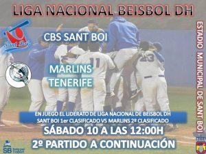 El título de Liga Nacional de Beisbol se juega este Sábado en Sant Boi