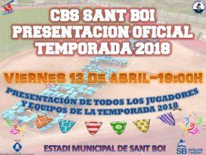 13 de Abril. Presentación Oficial Temporada 2018 CBS Sant Boi